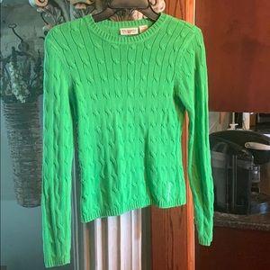 Lauren green ribbed sweater